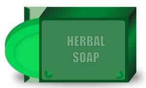 bar of herbal soap
