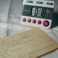 recipe and timer for soap