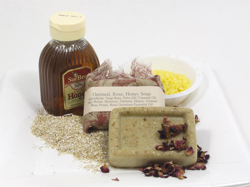 rose beeswax honey soap